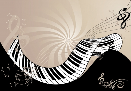 music background with piano keyboard Vector
