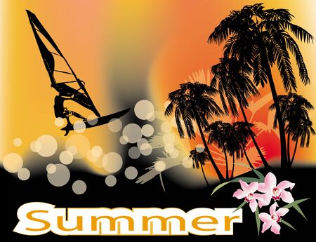 surfers: summer background