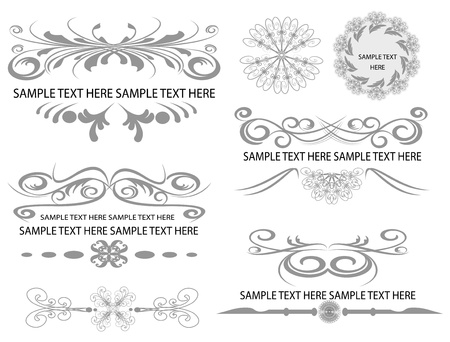 design elements for page  Stock Vector - 14773428