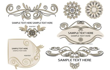 design elements for page Stock Vector - 14773426