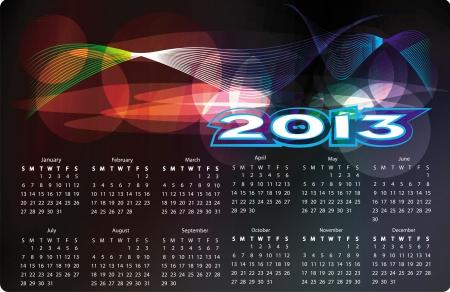 calendar 2013 Stock Vector - 15566522