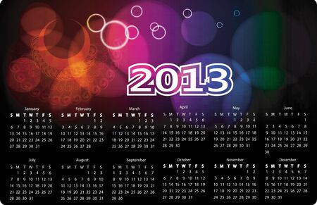 calendar 2013 Illustration