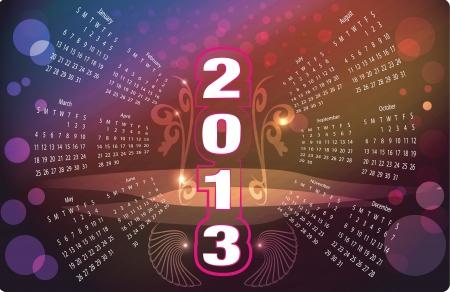 calendar 2013 Stock Vector - 15847478