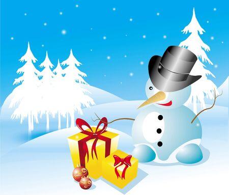 snowman cartoon: sweet snowman