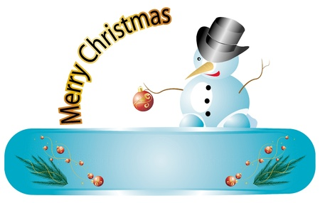 sweet snowman Stock Vector - 16251331