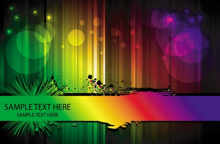 abstract background with banner