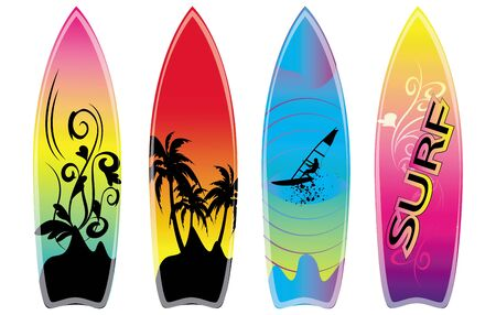 set of surfboard Vector
