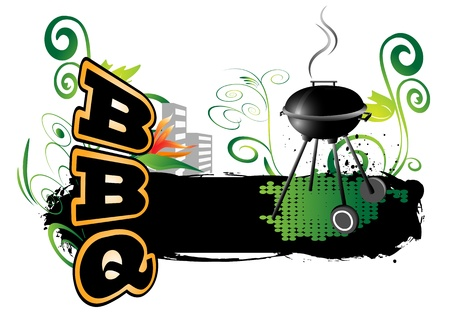 BBQ, background Stock Vector - 19146800