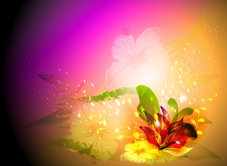 abstract background with flowers Illustration