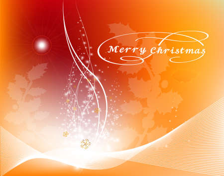 Christmas background with glowing light