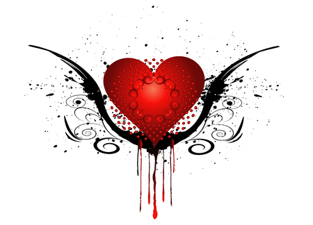 Heart with grunge