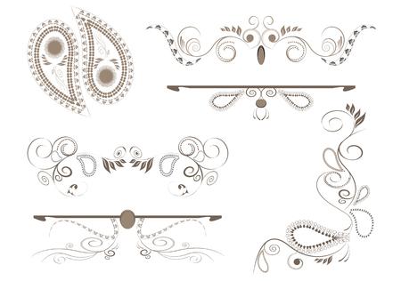 Design elements for page Illustration