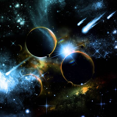 Universe with planets