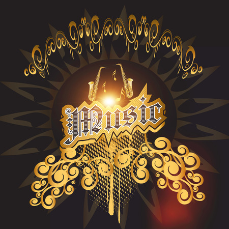 Music with awesome decorative elements Stock Photo