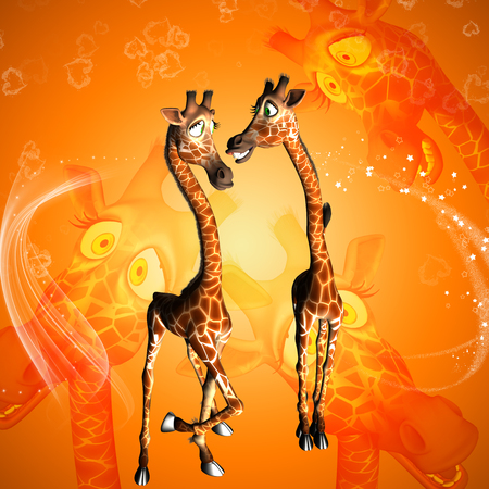 Funny cartoon giraffe