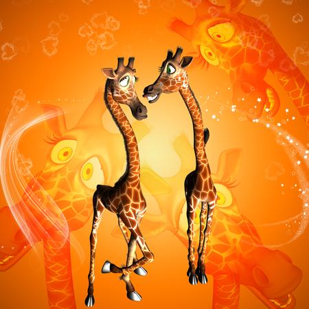 animal head giraffe: Funny cartoon giraffe