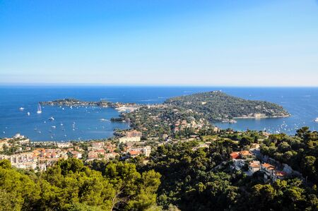 View on Saint Jean Cap Ferrat near Nice. Cote de Azur, Provence, France