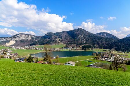 Thiersee in Tyrol, Austria, nearby Kufstein, Border with Bavaria, Germany Stock Photo