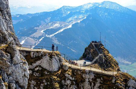 View from Wendelstein mountain by Bayrischzell. Bayern (Bavaria), Germany.