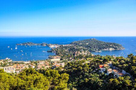 Saint-Jean-Cap-Ferrat nearby Nice, Nizza, Villa Rothschild. Aerial Postcard view. Cote de azur d'azur, french riviera, Provence, France.