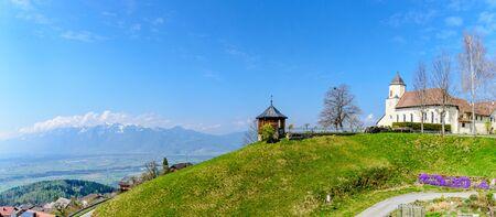 Panorama view nearby Feldkirch in Vorarlberg, Tirol. Austria .