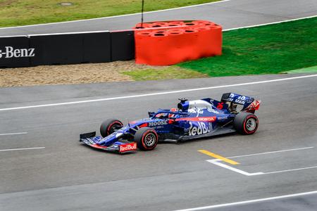 Formula 1 German GP in Hockenheim 28 July 2019: Torro Rosso Red Bull, Daniil Kvyat Stock Photo - 130077766