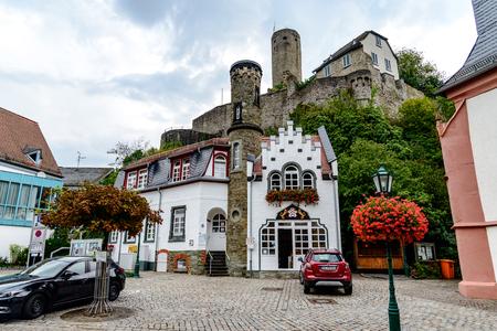 29 August 2019: Burg ruine castle Eppstein in Taunus. Hesse (Hessen), Germany. Nearby Frankfurt am Main, Wiesbaden.