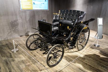 7 July 2019 - Museum EFA Mobile Zeiten in Amerang: Benz  Velo - Kutsche 1894 - 1902. Retro car, oldtimer