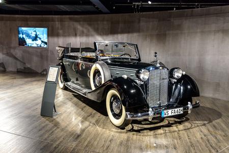 7 July 2019 - Museum EFA Mobile Zeiten in Amerang, Germany: Maybach SW 42 Transformations cabrio 1939 - 1941. Retro car, oldtimer