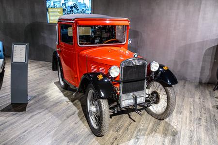 7 July 2019 - Museum EFA Mobile Zeiten in Amerang, Germany: BMW Dixi 315 Da Cabrio 1928 - 1931. Retro car, oldtimer Redactioneel