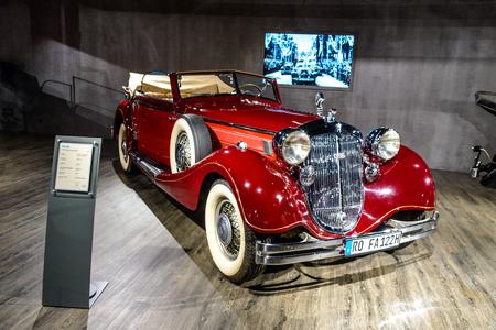 7 July 2019 - Museum EFA Mobile Zeiten in Amerang, Germany: Horch 853 Sportcabriolet 1937. Retro car, oldtimer