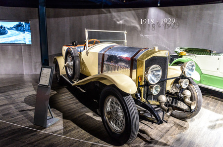 7 July 2019 - Museum EFA Mobile Zeiten in Amerang, Germany: Benz 2770   1918 - 1923. Retro car, oldtimer