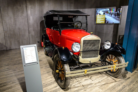 7 July 2019 - Museum EFA Mobile Zeiten in Amerang: Ford T Phaeton 1908 - 1929. Retro car, oldtimer Editorial
