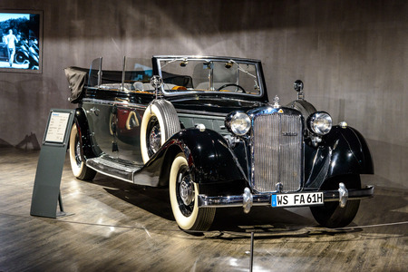 7 July 2019 - Museum EFA Mobile Zeiten in Amerang, Germany: Maybach SW 42 Transformations cabrio 1939 - 1941. Retro car, oldtimer