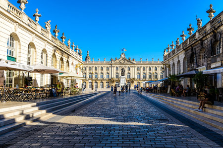 Stanislas place square, hotel de Ville in Nancy, Lorraine, France. UNESCO Editorial