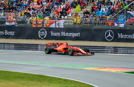Formula 1 German GP in Hockenheim 28 July 2019: Ferrari, Charles, Leclerc Editorial