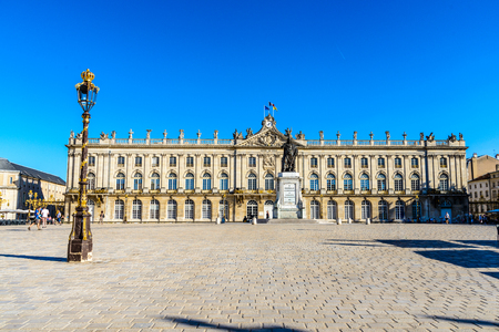 Stanislas place square, hotel de Ville in Nancy,  Lorraine, France. UNESCO