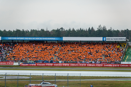 Formula 1 German GP in Hockenheim 28 July 2019: Holland Dutch tribune, Max Verstappen fans Editorial