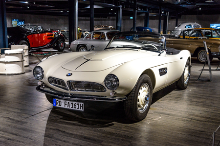 7 July 2019 - Museum EFA Mobile Zeiten in Amerang, Germany: BMW 507 Roadster  1956 - 1959. Retro car, oldtimer Editorial