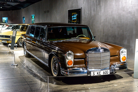 7 July 2019 - Museum EFA Mobile Zeiten in Amerang, Germany: Mercedes Benz 600 Pullmann 1963 - 1981. Retro car, oldtimer