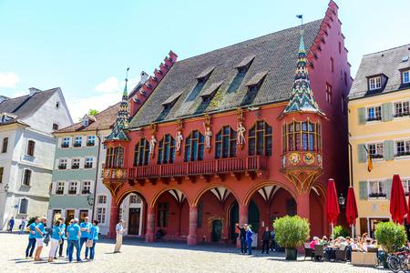 Freiburg, Germany - Mai 30 2019: History Department Store (Kaufhaus). Freiburg im Breisgau, Germany