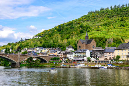 Cochem. Beautiful historical town on romantic Moselle, Mosel river. City view. Rhineland-Palatinate, Germany, Banco de Imagens