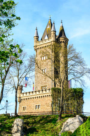 Dillenburg, Germany - April 22nd 2019: View on Castle Dillenburg. Hessen, Germany
