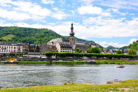 Cochem. Beautiful historical town on romantic Moselle, Mosel river. City view, St. Martin church. Rhineland-Palatinate, Germany,