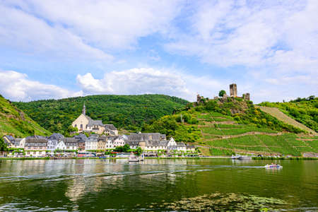 Burg Metternich in the town Beilstein on romantic Moselle, Mosel river. Rhineland-Palatinate, Germany