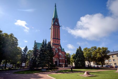 Evangelical Lutheran church in the centre of Kotka, Finland