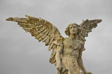 angel cemetery: Angel in the sky  Concrete statute of an angel