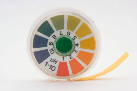 ph: isolated indicator paper over white background