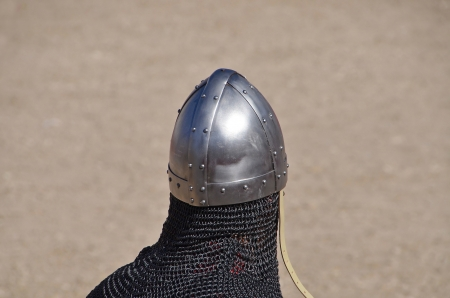 armour plating: medieval helm and coat of mail
