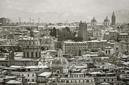 caput: churches under snow at rome